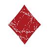 Red Grunge Diamanten Karte logo