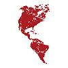 Red Grunge Kontinent Amerika logo