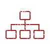 Red Grunge Struktur Logo