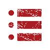 Red Grunge Ordnungsliste logo