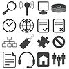 Einfache Schwarz-Icon-Set 15