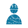 Векторный клипарт: Гранж строитель значок
