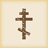 Grungy orthodoxes Kreuz-Symbol