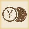 Шероховатый иен значок монеты