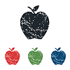 Apple-Grunge-Icon-Set | Stock Vektrografik