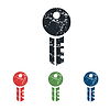 Key grunge icon set