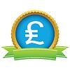 Britisches Pfund Runde Symbol