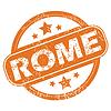 Rom runden Stempel