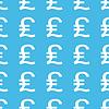 Britisches Pfund gerade Form