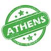 Athens grünen Stempel