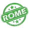 Rom grünen Stempel