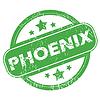 Phoenix grünen Stempel
