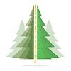 Абстрактные новогодние елки | Иллюстрация