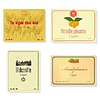 Set of retro of labels of alcoholic beverages | Stock Illustration