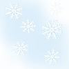 New Year`s frame of snowflakes, on blue background | Stock Illustration