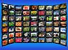 ID 4522413 | Schwarz Tabletten mit bunten Bildern auf blau | Foto mit hoher Auflösung | CLIPARTO