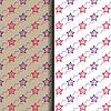 Nahtlose roten und blauen Stern-Muster