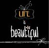 Векторный клипарт: с фразой Жизнь прекрасна