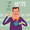 Kaffeepause, Geschäftsmann Kaffee zu trinken