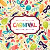 Feier festlichen Hintergrund mit Karneval-Ikonen