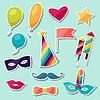 Feier Karneval Set von Icons und Aufkleber
