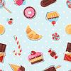 Nahtlose Muster bunten Aufkleber Süßigkeiten, Bonbons