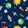 Nahtlose Muster von Sonnensystem, Planeten und