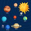 Cosmic mit Planeten des Sonnensystems