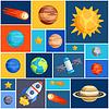 Hintergrund mit Sonnensystems, der Planeten und