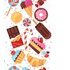 Векторный клипарт: Бесшовные красочный различные конфеты, сладости