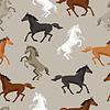Nahtlose Muster mit Pferd im flachen Stil
