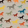 Nahtlose Muster mit Pferd im flachen Stil ausgeführt