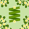 Fondo tropical con flores plumeria estilizadas | Ilustración vectorial