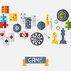 Nahtlose Muster mit Spiel Symbole in flaches Design
