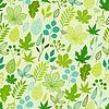Modelo con las hojas verdes estilizadas | Ilustración vectorial