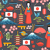 Japan seamless pattern