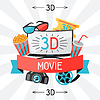 Hintergrund des Films Elemente und Kino-Ikonen
