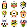 Set des Sports s Fußball-Fußballabzeichen