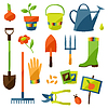 Set Garten Design-Elemente und Symbole