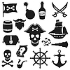 Satz von Objekten und Elementen auf Piraten-Thema