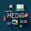 Векторный клипарт: Медиа концепция в плоском стиле дизайна