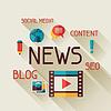 Векторный клипарт: Новости понятие в плоском стиле дизайна