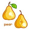 Estilizada pera fresca | Ilustración vectorial