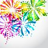 Hintergrund mit hellen bunte Feuerwerk und Salute