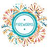 Hintergrund mit abstrakten Feuerwerk und grüßen