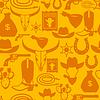 Wild-West-nahtloses Muster mit Cowboy-Objekte und