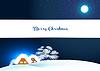 Векторный клипарт: Зимний пейзаж с домами