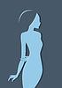 Векторный клипарт: Красивые Женская силуэт изображения