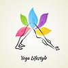 Векторный клипарт: Красивая женщина делает йогу