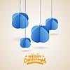 Векторный клипарт: Стилизованный фон новогодние шары